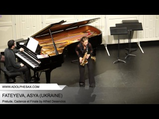 Dinant 2014 - Fateyeva, Asya - Prelude, Cadence et Finale by alfred Desenclos