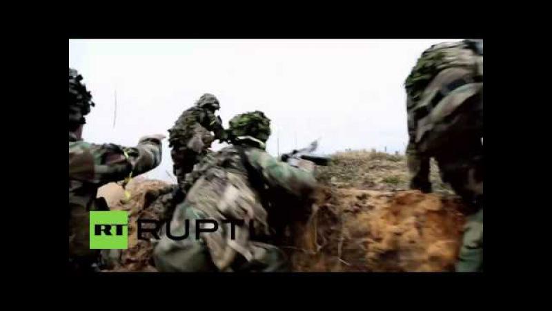 Lettland NATO trainiert den Ernstfall - Befreiung von Riga