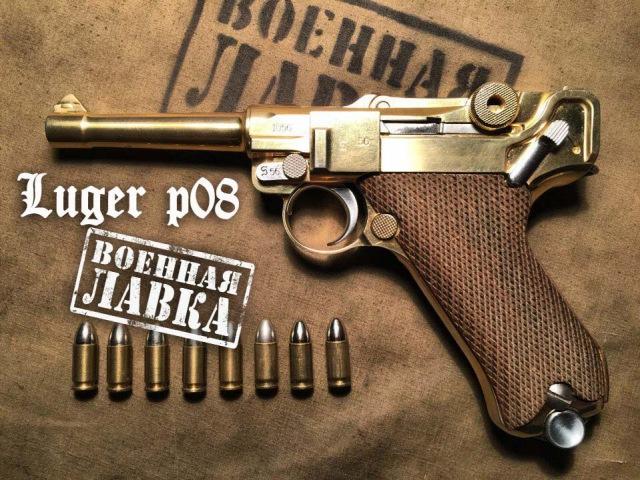 пистолет Люгер P08 от Marushin; Parabellum Luger P08. неполная разборка, описание