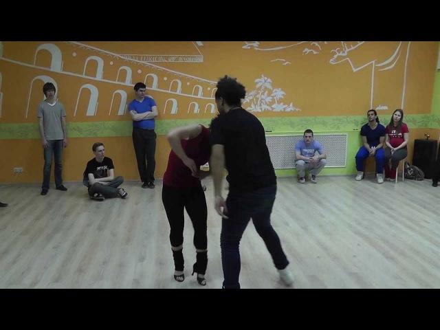 Xandy Liberato Evelyn Magyari - Zouk Workshop 07.05.13 at Brazuka