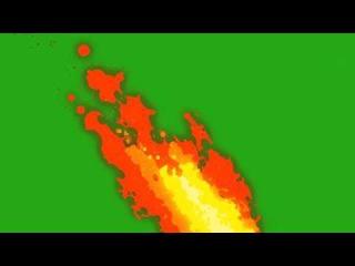 Скачать футаж Мультяшный огонь(хромакей)