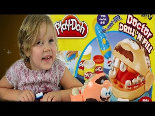 Play Doh Doctor Drill N Fill Unboxing and Review - Dentist Play with PlayDoh - P...