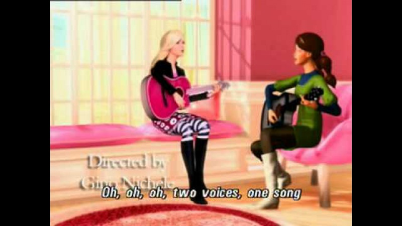 Two Voices, One Song in Barbie and Diamond Castle