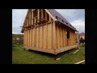 Каркасный дом 6 на 6 своими руками ч.8  (установка конька, снегозадержателей, обшивка ОСП (OSB))