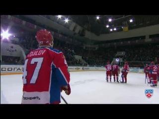 КХЛ (Континентальная хоккейная лига) - Хайлайты 2014 2015 - ЦСКА - СКА 2:3 / Запад, Финал, В серии 3