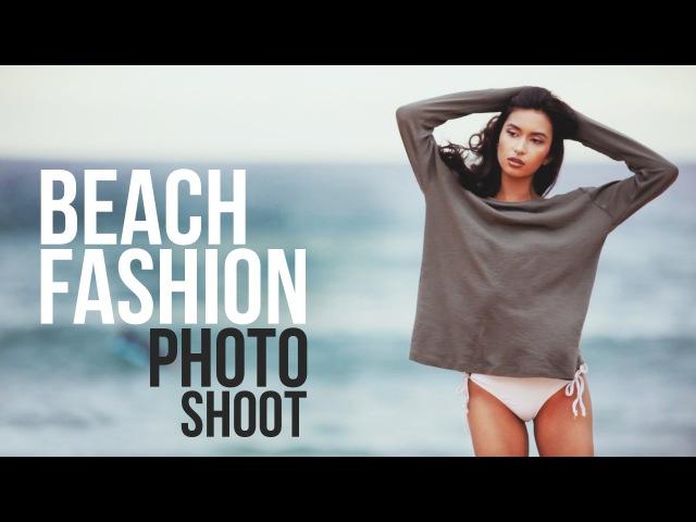 Beach Fashion Photo Shoot - BTS Sony A7R Contax 645\\gfh