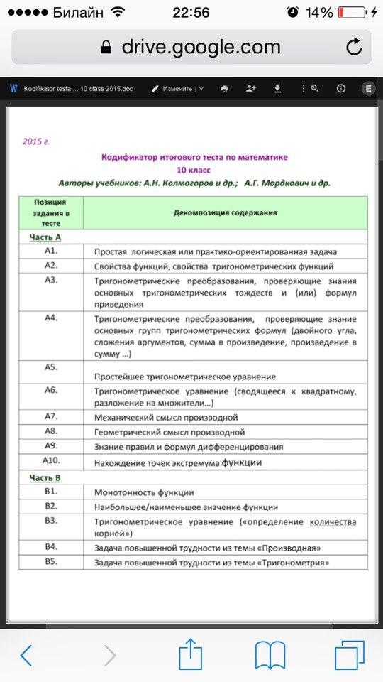 Ответы по мониторингу 7 класс математика 2016