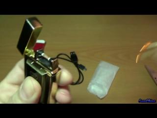 Супер зажигалка Tiger TW-900 заряжается от USB (6 sec)