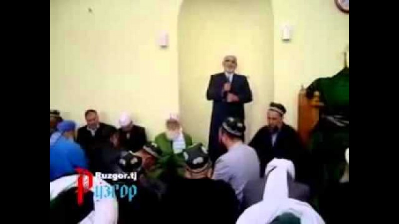 Суханрони Сайидумар Хусайни муовини аввали раиси ХНИТ Чанозаи хазрати бузургвор Домулло Мухаммади