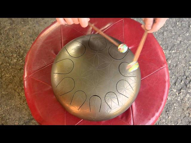 Глюкофон Цветок жизни Harmonic Minor B 13,07,15 Steel tongue drum, tank drum...