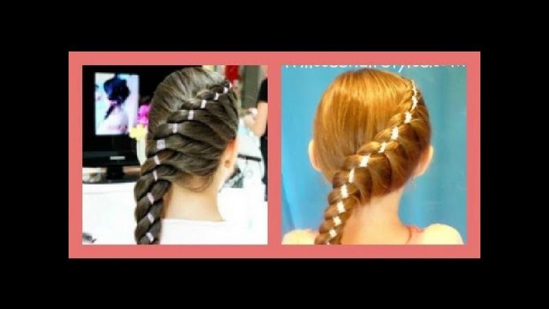 Diagonal Twist Braid With Ribbon braided hairstyles