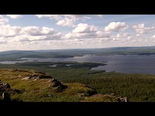 Озеро Ковдозеро, гора Каликорва - вид сверху