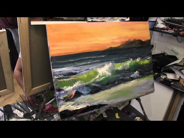 Научиться писать, рисовать, море, морской пейзаж, художник Сахаров, мастер-классы по живописи