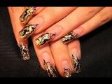 Nail designs. Дизайн ногтей гель лаком. Рисунок на ногтях. Простые рисунки на ногтях.