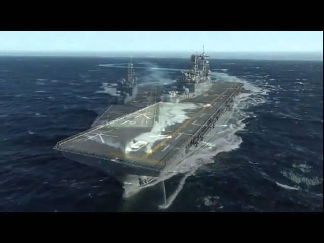 Десантный корабль ВМС США Америка Ходовые испытания America-class amphibious assault ship