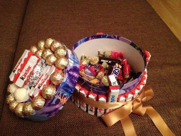 Подарок своими руками для парня сладкое