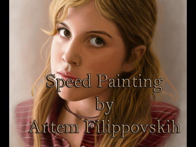 Paula Kalenberg - Speed Painting by Artem Filippovskih