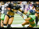 LFL Legends football league GIRLS ATTACK hits and fights !