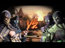 Mortal Kombat 9 (2011) - Scorpion and Sub-Zero's Tag Ladder Playthrough