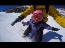 Вот это Папы! ❅ NHR ❅ Их маленькие Дочи, 2 и 4 года, на сноубордах! Tandem Snowboarding Friends