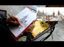 Обучение рисунку Введение 24 серия еще о пленэре с карандашом