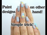 Trick to painting intricate designs on your dominant (other) hand | Lucy's Stash