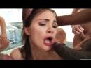 Massive Facials Лицо Lily Carter заливают спермой bukkake gangbang Blowjob Deep Throat порно букакэ в рот кончили толпой ебут цп