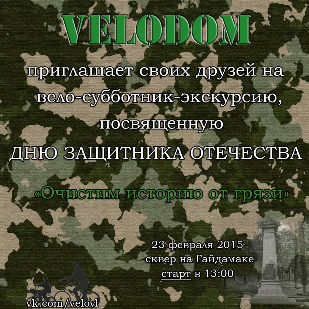 Афиша Владивосток 23 февраля по Велосипедному!!!