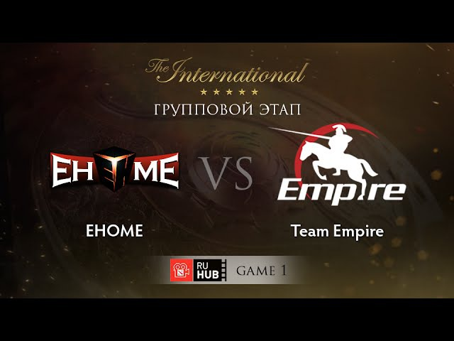 EHOME vs Team Empire - Game 1, Group B - The International 2015