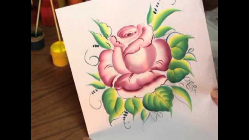 Мастер-класс Рисуем розу