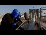 Blue Man Group Performs on Brooklyn Bridge