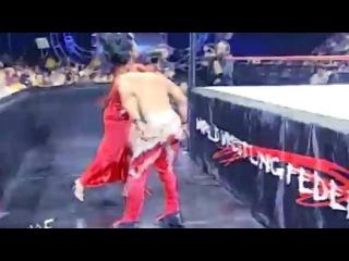 Eddie Guerrero with Chyna vs. Essa Rios with Lita