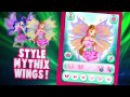 Winx Club season 6:Mythix Fashion Wings! New Game/App! ᴴᴰ