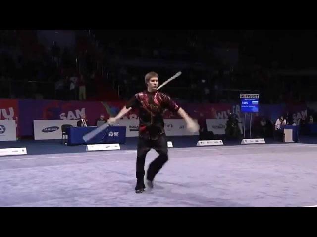 Семен Уделов всемирные игры боевых искусств 2013 Выступление со спортивным оружием палка
