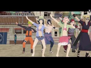 MMD [Sasuke-Sakura-Naruto-Hinata-Gaara-Temari-Kakashi] Little Apple