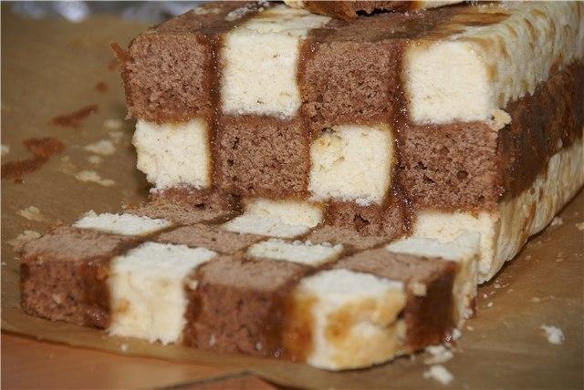 Шахматный кекс рецепт пошаговый с фото
