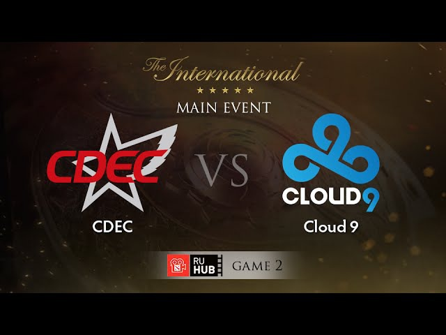 [Part 2] CDEC -vs- Cloud 9, TI5 Main Event, WB Round 1, Game 2
