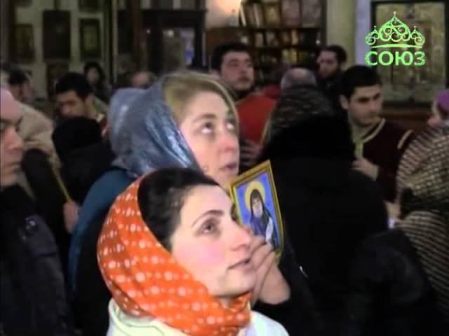 Перенесение мощей преподобного Габриэля в Тбилиси