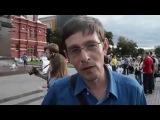 «Путин есть - еды не надо» - надпись на плакате активиста в Москве