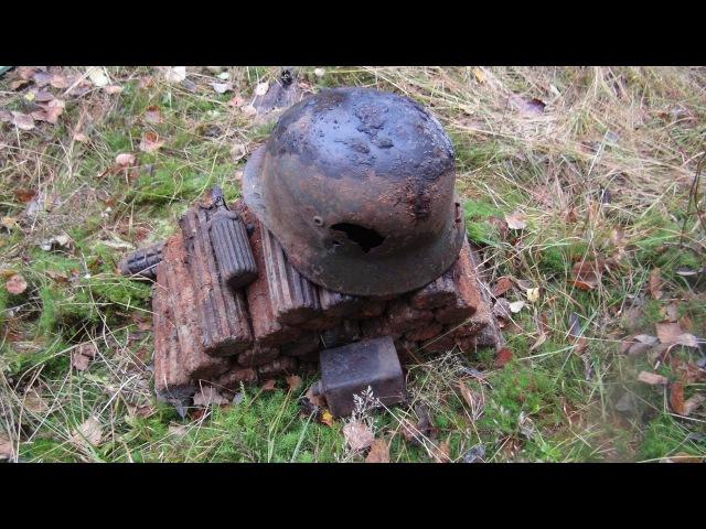 Нашли тайный бункер с минами в Карелии, коп с металлоискателем