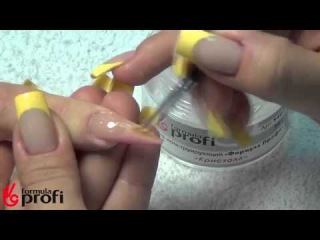 Наращивание ногтей акрилом и дизайн ногтей цветными 3D гелями