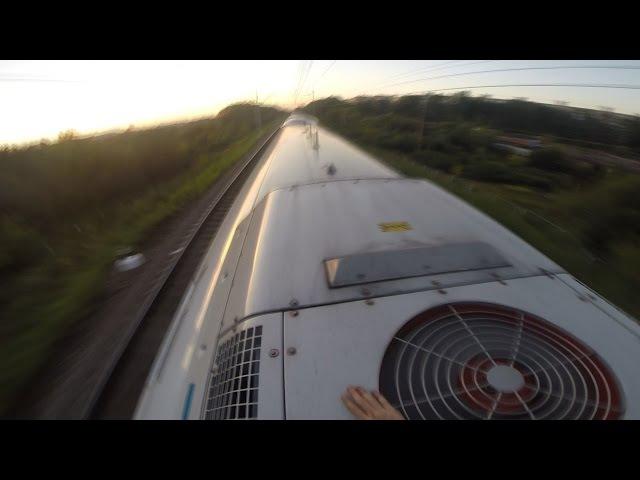 High speed trainsurfing 230 km h in Russia Зацепинг на Сапсане МСК СПБ