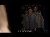 Сверхъестественное 10 сезон 5 серия (сцена мюзикла) [HQ] Carry On My Wayward Son [RUS]
