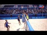 Первые европейские игры в Баку. Пляжный волейбол. Мужчины. Полуфинал: Россия / Швейцария (21.06.2015)