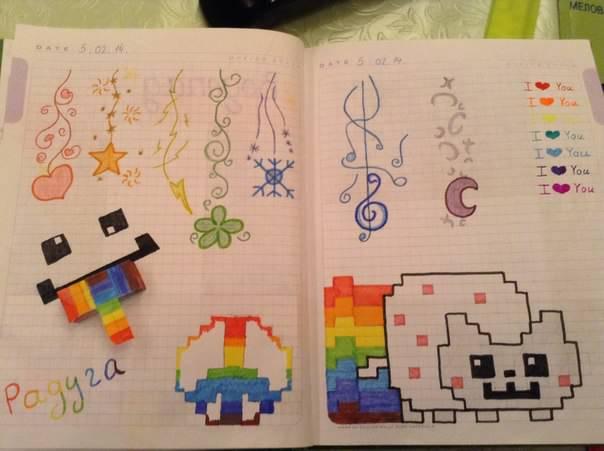 Дневники с поделками