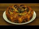 Пирог маковый Роза и булочки Улитки Нарядная выпечка с маком
