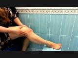 Как сделать антицеллюлитный массаж дома . Как похудеть в ногах. Красивые колени.