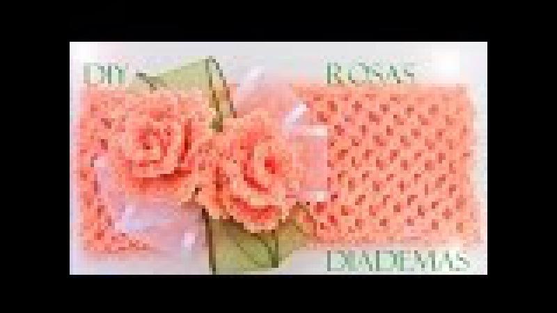 Rosas a crochet - how to crochet roses