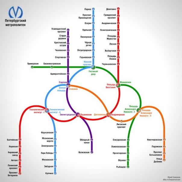 Альтернативная схема метро