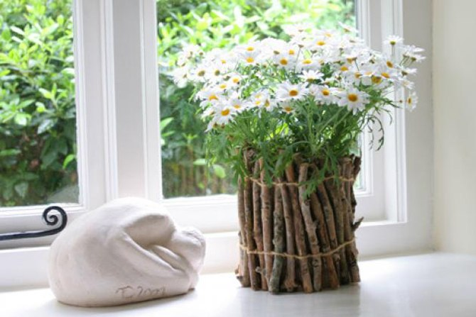 Декор в цветы своими руками